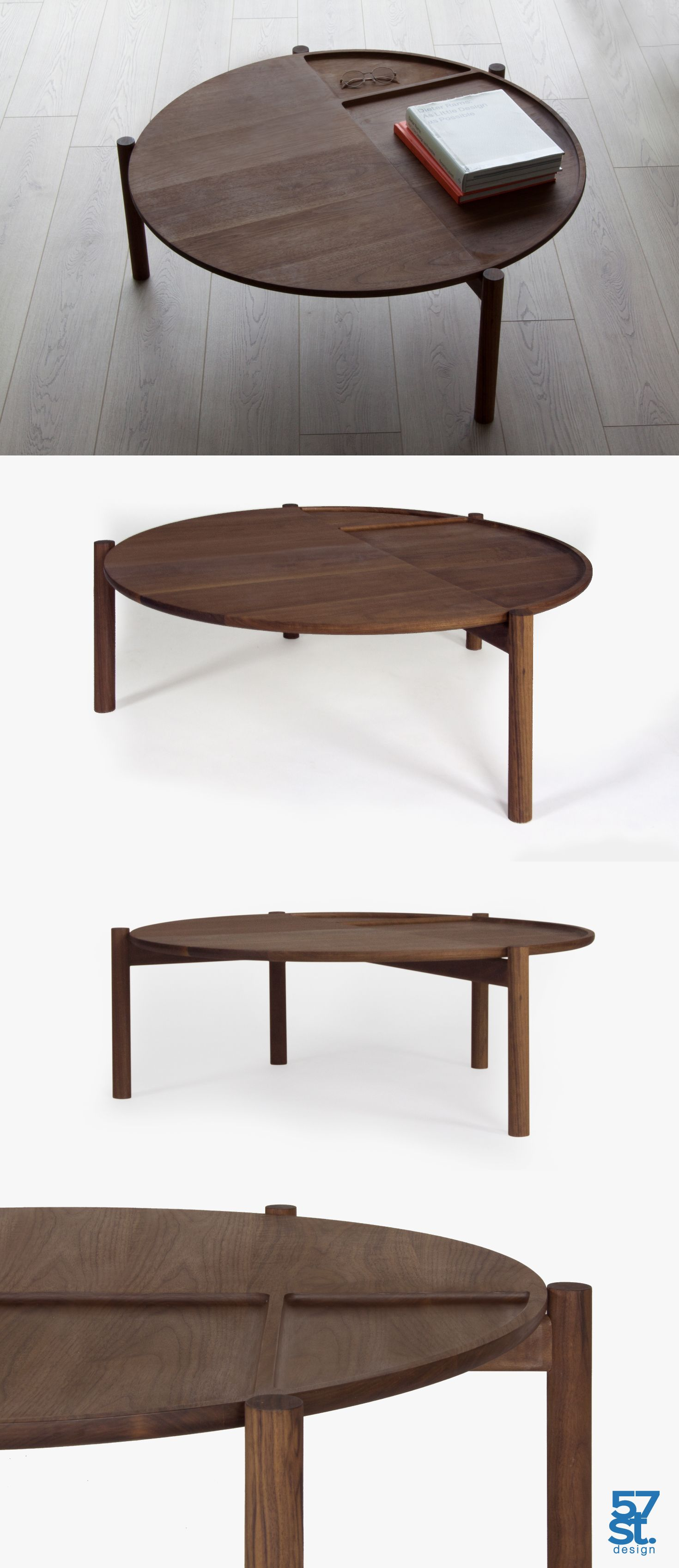 The Ashland Coffee Table Was Designed With Organization In Mind