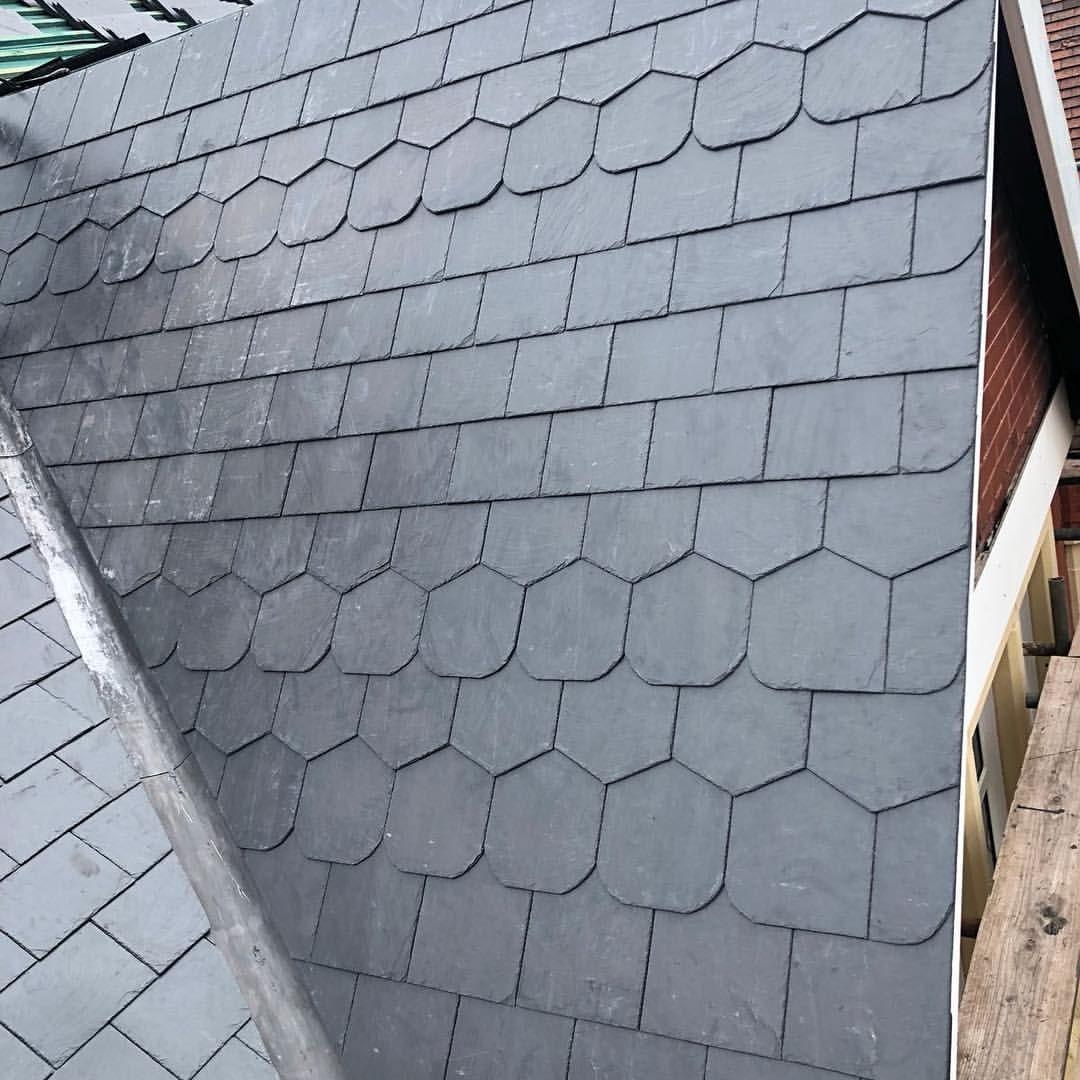 Sneak Peak Of Our Latest Slate Roof Replacement Roof Replacement Cost Slate Roof Roof Coating