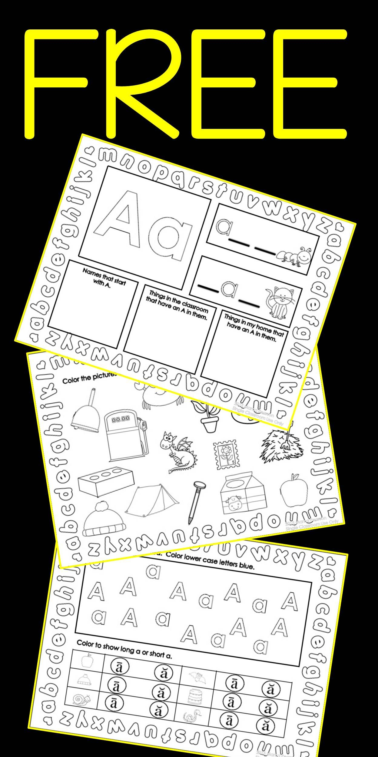 7 Free Pages To Help Your Students Practice Skills With The Letter A Your Students Will Love