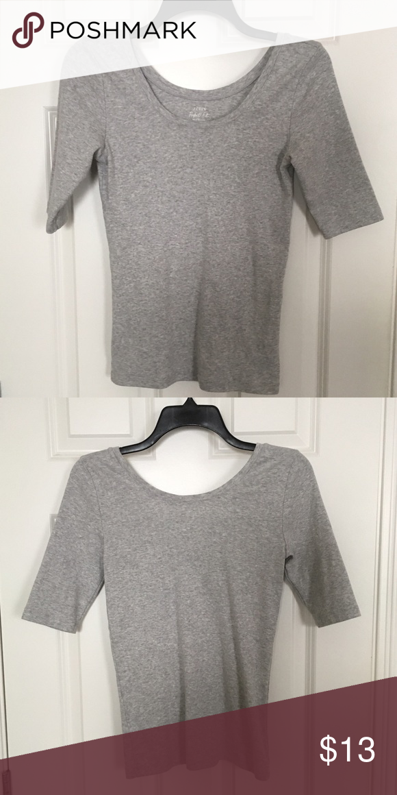 J. Crew Scoopneck Tee Perfect condition. Only worn once! Looks really great tucked into high waisted jeans or shorts. Fitted with elbow length sleeves. J. Crew Tops Tees - Short Sleeve