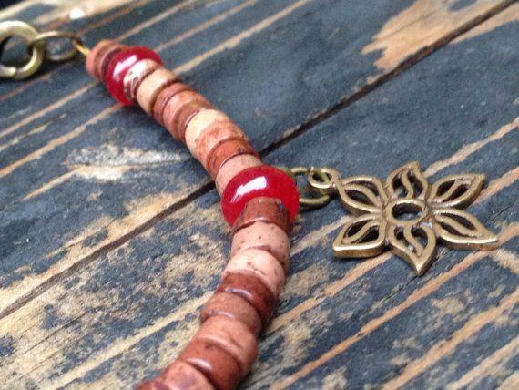 Jaspar & Ruby Bracelet by HappyGirlJewels on Etsy, $18.00
