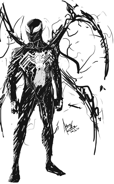 spiderman half dark and half odd