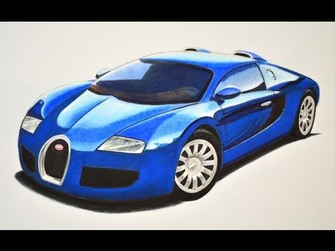 How To Draw A Bugatti With Colors How To Draw A Super Car Youtube Bugatti Car Drawings Car