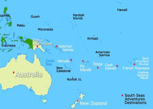Location Of Fiji Islands | Fiji Islands Map, Fiji Map | Our ...
