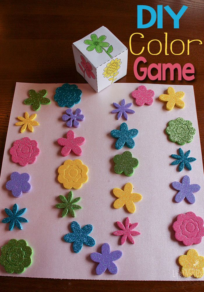 Create a Color Recognition Game with Stickers | Preschool Colours of ...