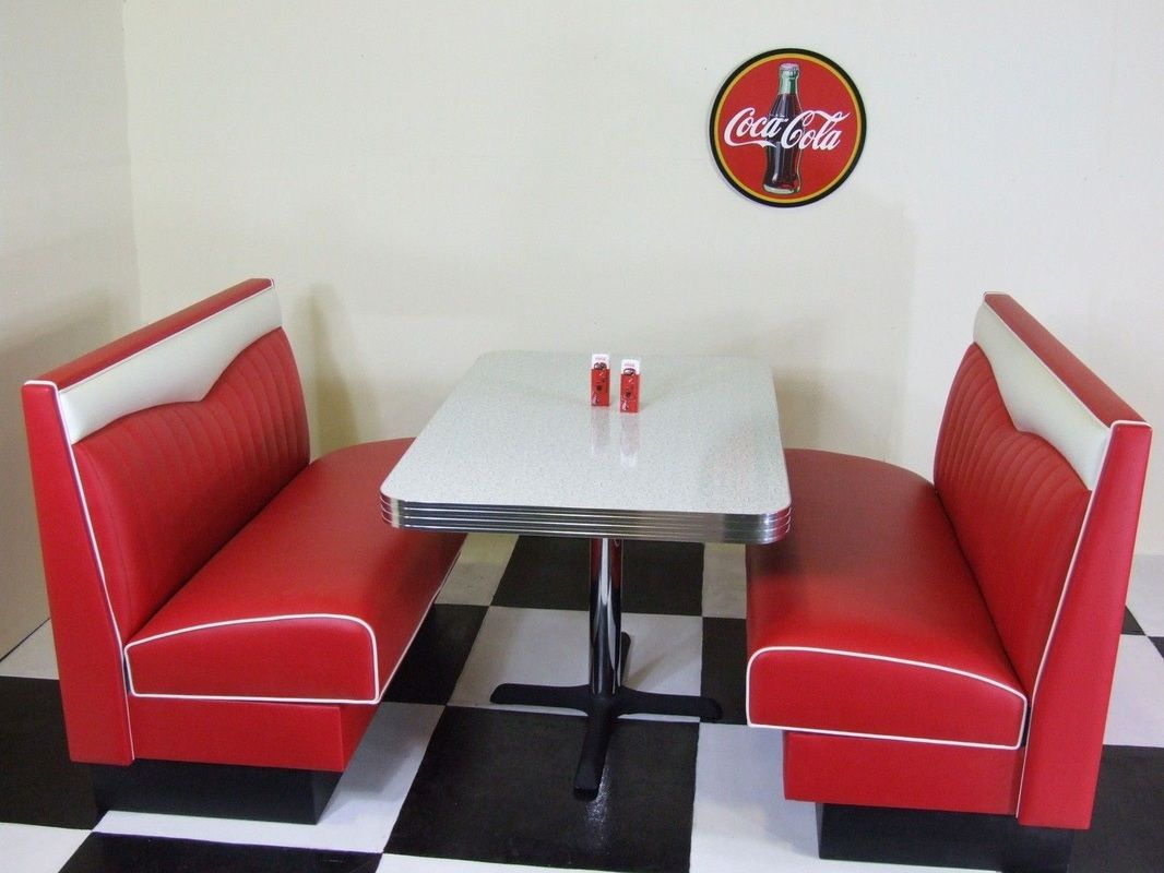 1950s Red And White Retro Diner Booth Http Www Just