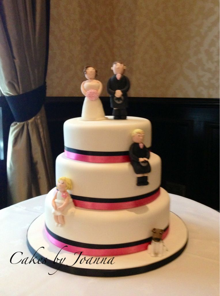 wedding cake topper with 2 dogs