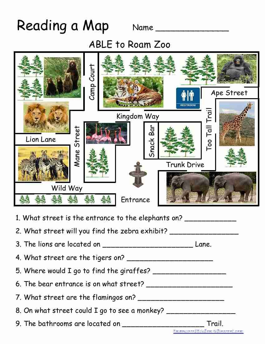 worksheet Reading A Map Worksheet 1000 images about map skills on pinterest the student and following directions
