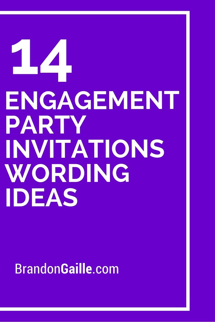 14 Engagement Party Invitations Wording Ideas