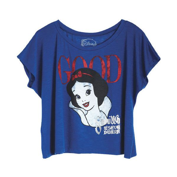 d386e5a86 Snow White Good Evil Tee ($9.99) ❤ liked on Polyvore featuring tops, t- shirts, shirts, tees, graphic tees, graphic t shirts, blue top, t shirts  and blue ...