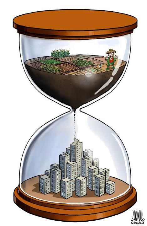 Time is Running Out: Rural Erosion, Urban Overgrowth.