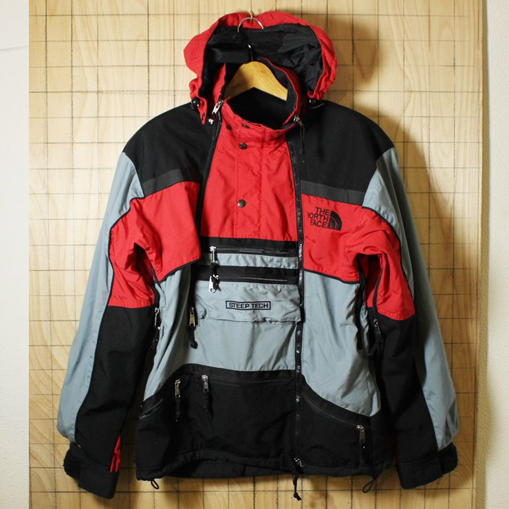 1bcc2bce9 THE NORTH FACE×Scot Schmidt/USA製90s古着レッド×ブラックSTEEP TECH ...