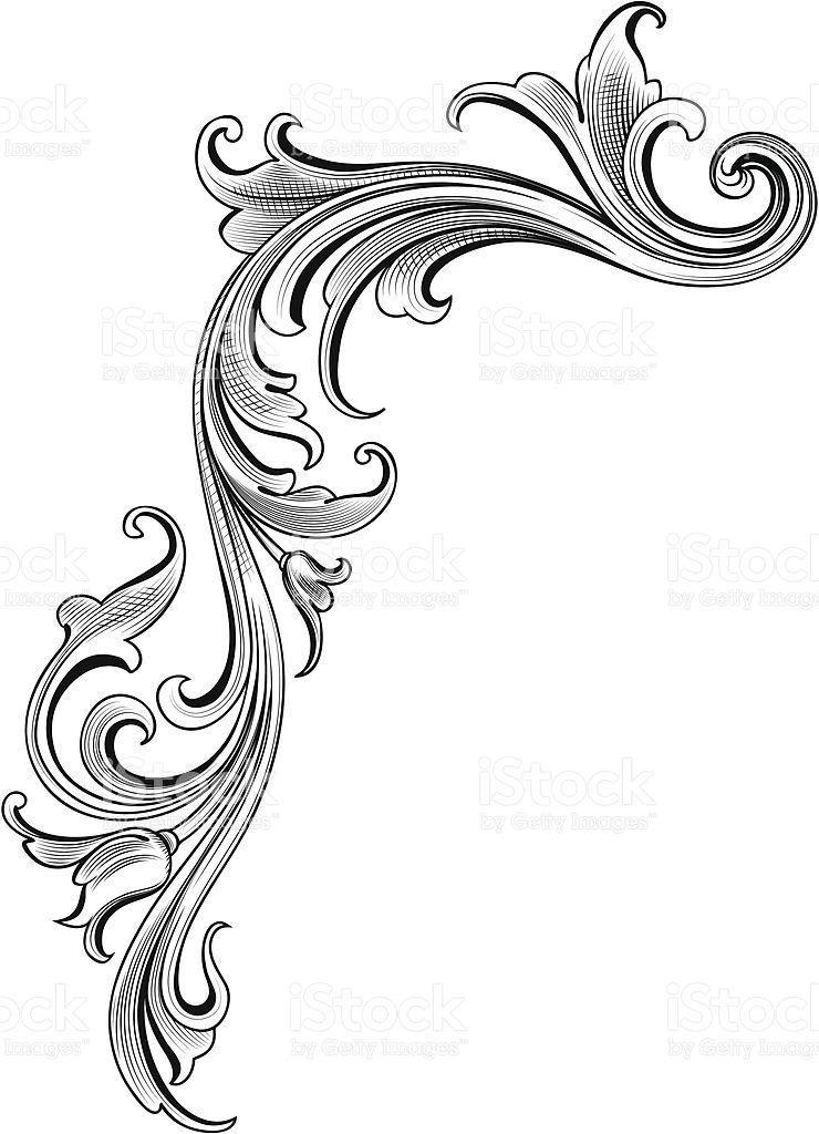 Arabesque Flow Lizenzfreies Vektor Illustration Barock Tattoo Unterarm Tattoo Vorlagen Filigrane Tatowierung