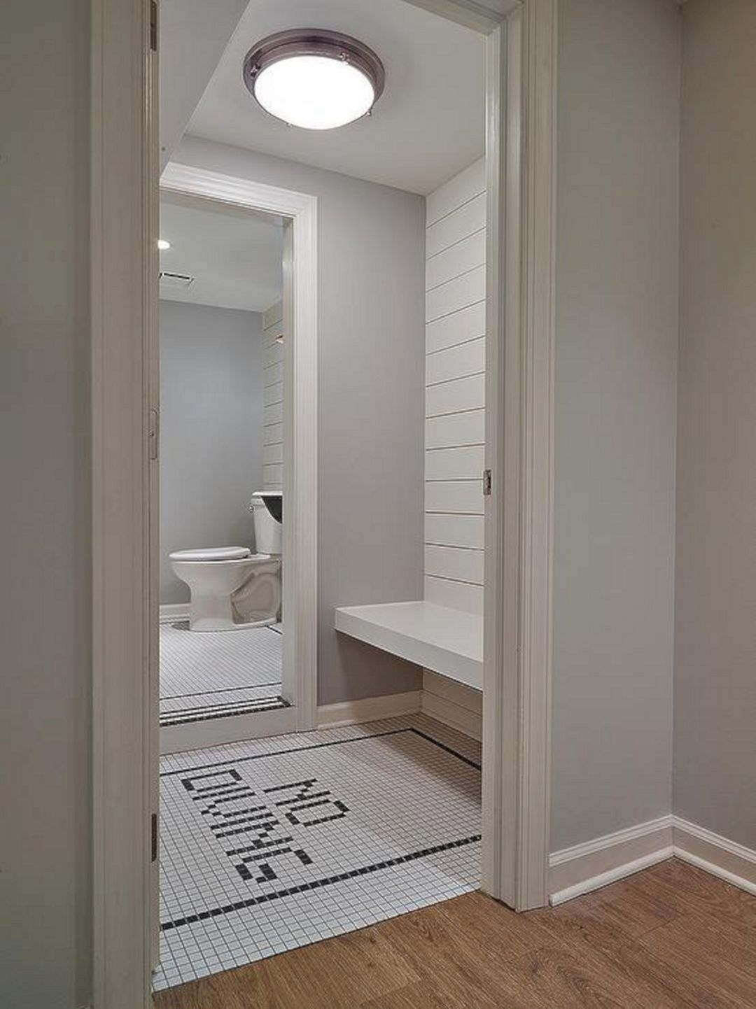 20 Marvelous Bathroom Tile With Shiplap Walls Design Pool House
