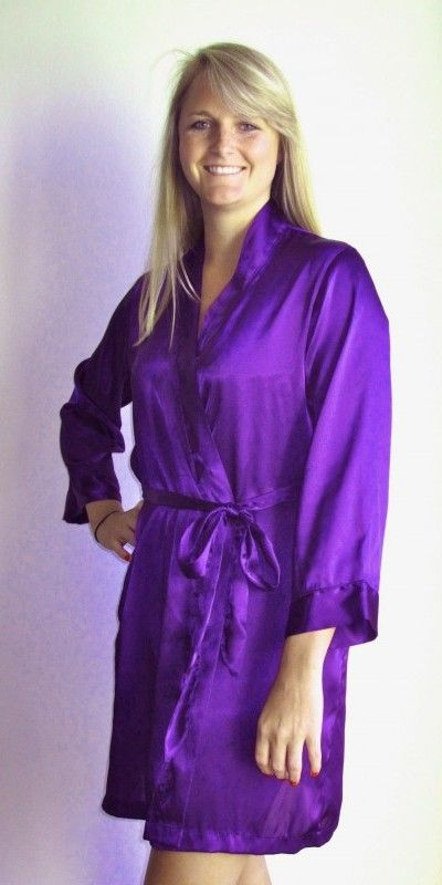 Purple Robe for Bridesmaids  619b86c21