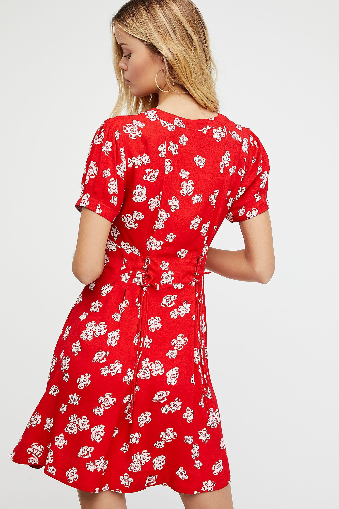 c429773d8662 Free People Dream Girl Mini Dress - Rockin Red Combo 14 | Products ...