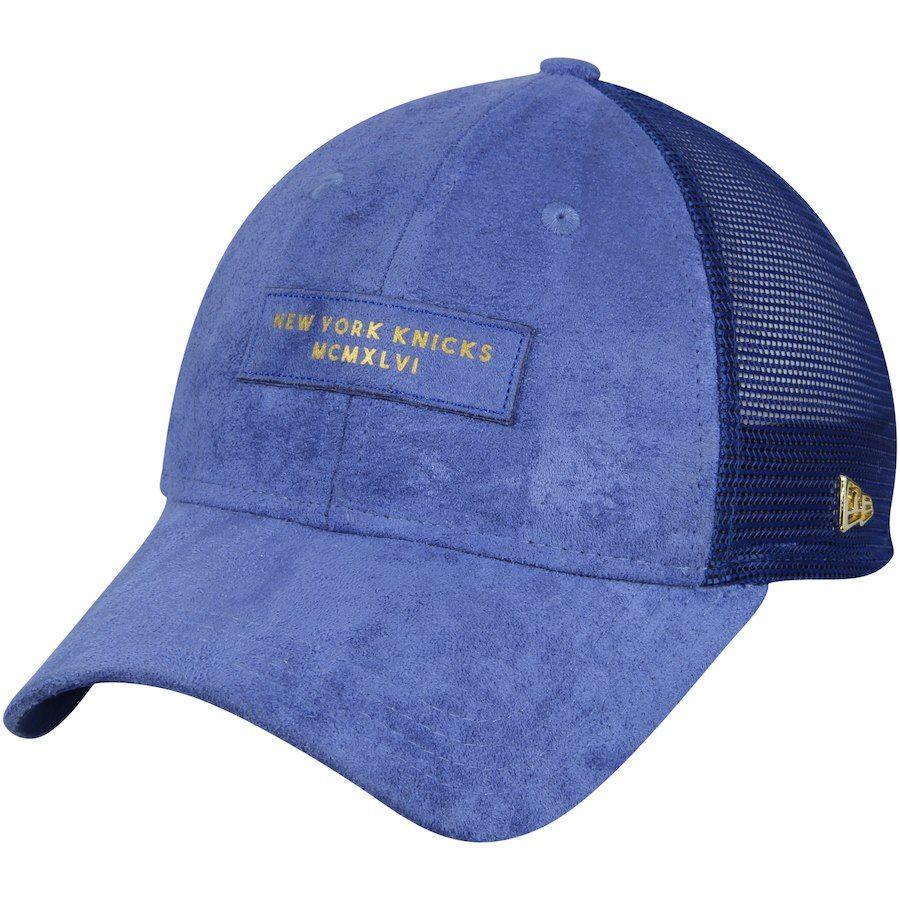 9083df7844e Men s New York Knicks New Era Blue Trucker Black Label Series 9TWENTY  Adjustable Hat