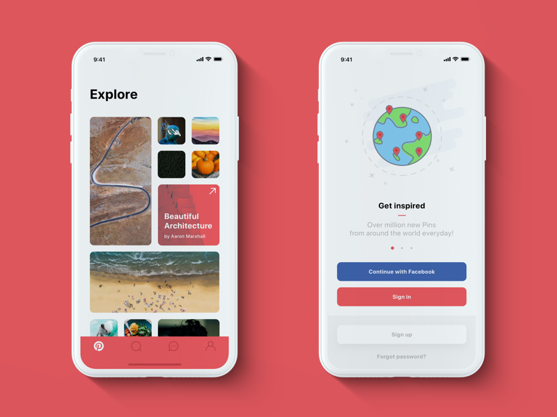 Pinterest Iphone X Redesign Home Onboarding Mobile App Design Web App Design Android Web