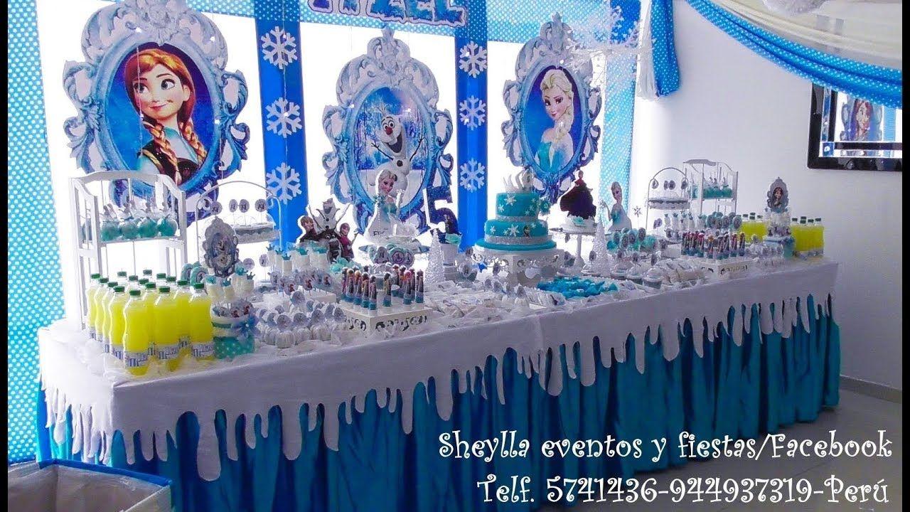 Frozen decoracion fiestas infantiles mesa de dulces for Decoracion de mesas dulces infantiles