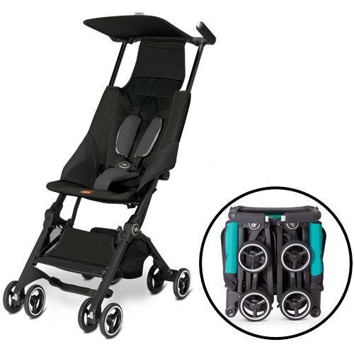 Good Baby paraplyklapvogn - Pockit - Sort Markedets mindste rejseklapvogn - Kan være i håndbagagen på flyet