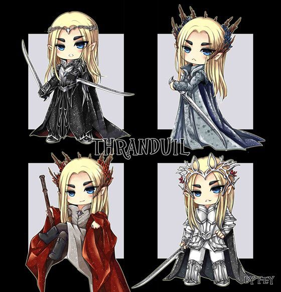 Different Thranduil Outfits! Cute!