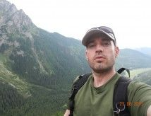 selfie whilst out hiking in the Tatras