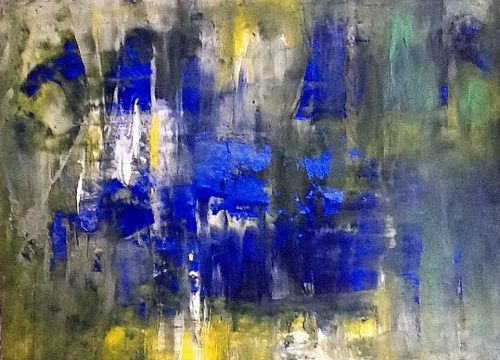 "artoffer – Art of Roswitha Klotz  ""Glowing blue"" (81) / 2013"
