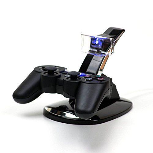 MP power @ Dual Base Cargador Soporte Estaci/ónes muelle de la estaci/ón para Sony Playstation 4 DualShock 4 PS4 ps 4 Mando Controlador Gamepad Joypad