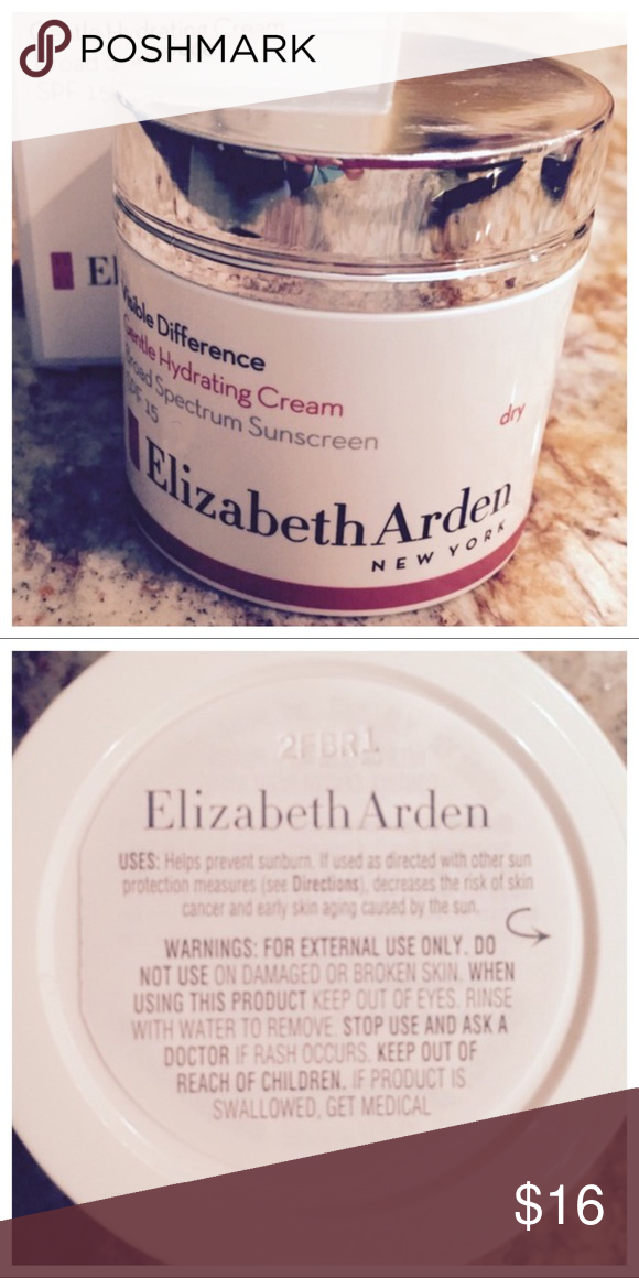 fa15b466a81 ELIZABETH ARDEN VISIBLE DIFFERENCE New Elizabeth Arden Visible Difference  Gentle Hydrating Cream. Broad Spectrum SPF 14. For dry & sensitive skin.  1.7 oz.