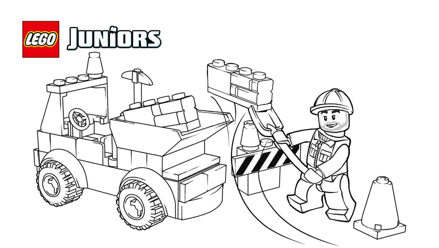 Lego Juniors Construction 3 Coloring Sheet