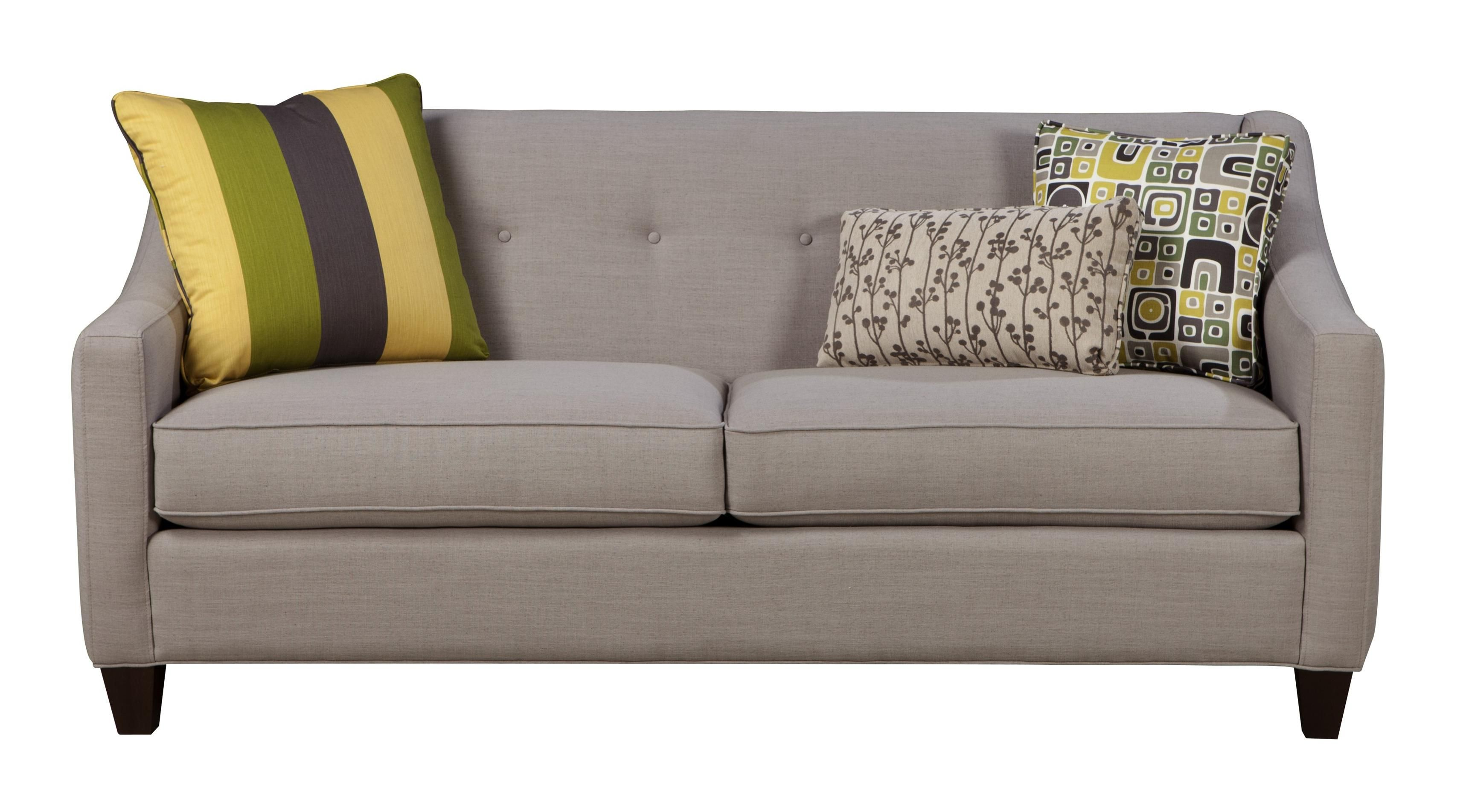 contemporary sofas and loveseats brown leather three seater sofa sleeper with button tufting memory