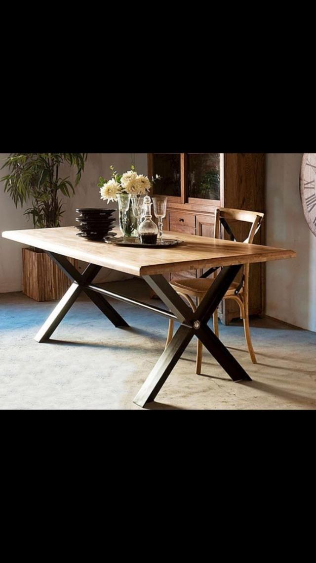 Mesa estilo industrial retro precio 320 euros nueva for Wallapop madrid muebles