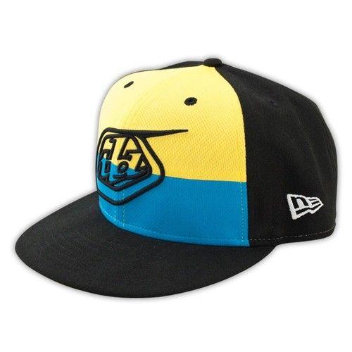 Troy Lee Designs TLD SE Pro Hat New Era Snapback Cap Logo MX MTB BMX Neon  Blue  d8efc7f14b9