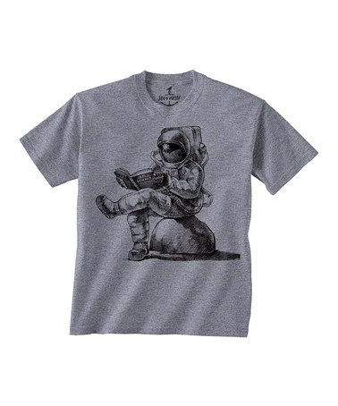 Another great find on #zulily! Gray Spaceman Reading Tee - Toddler & Kids #zulilyfinds