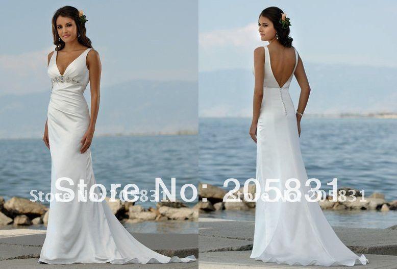 Cheap abalorios exquisito v cuello vaina playa blanca j2891 vestidos ...