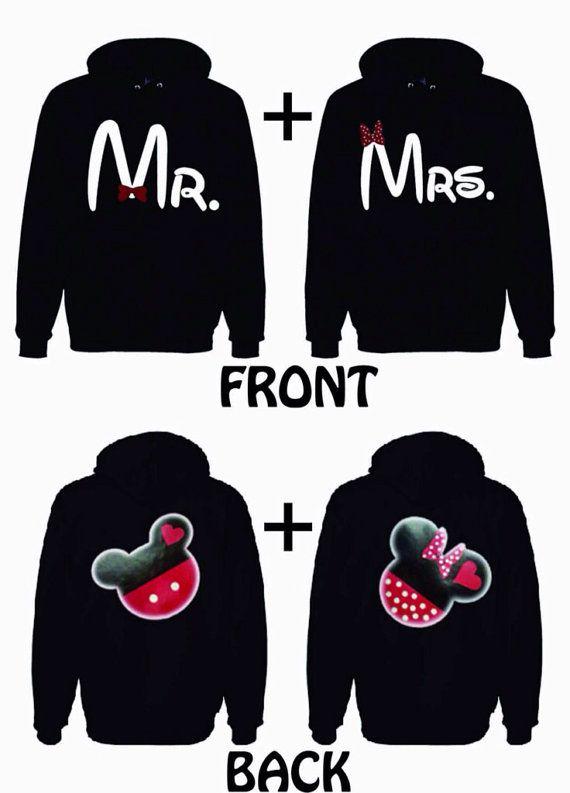 Disney Hoodie sweatshirt set, Mr. & Mrs., Couples Jackets- Disney hoodies Honeymoon Disney Trip