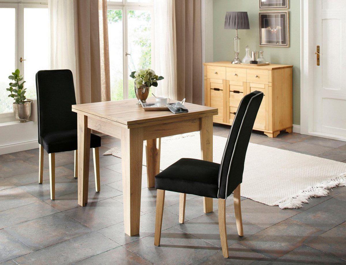 Home affaire 4Fußstuhl »Katja« Bezug in Samtoptik (2er