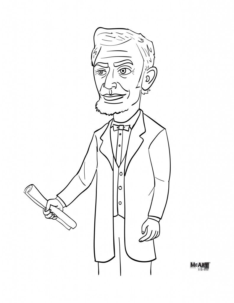 Abe Lincoln Coloring Page | Coloring Pages | Pinterest | School