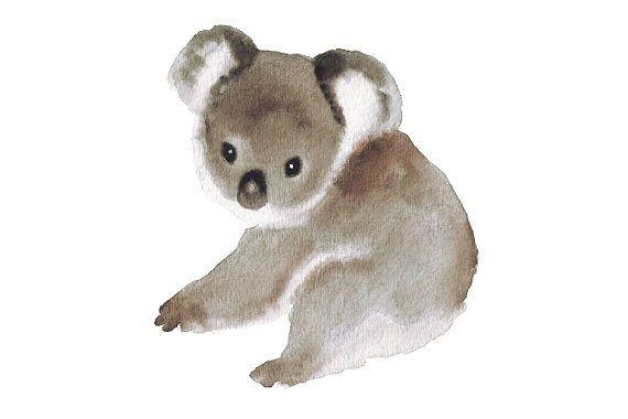 Aquarelle Bebe Koala Art Imprimer L Art Aquarelle Art Pepiniere