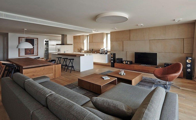 Large Open Plan Living Room Dining Space Kitchen Design With Sophisticated Furnishing And Decorations Apar Interior De Design Decoracao De Casa Design De Casa