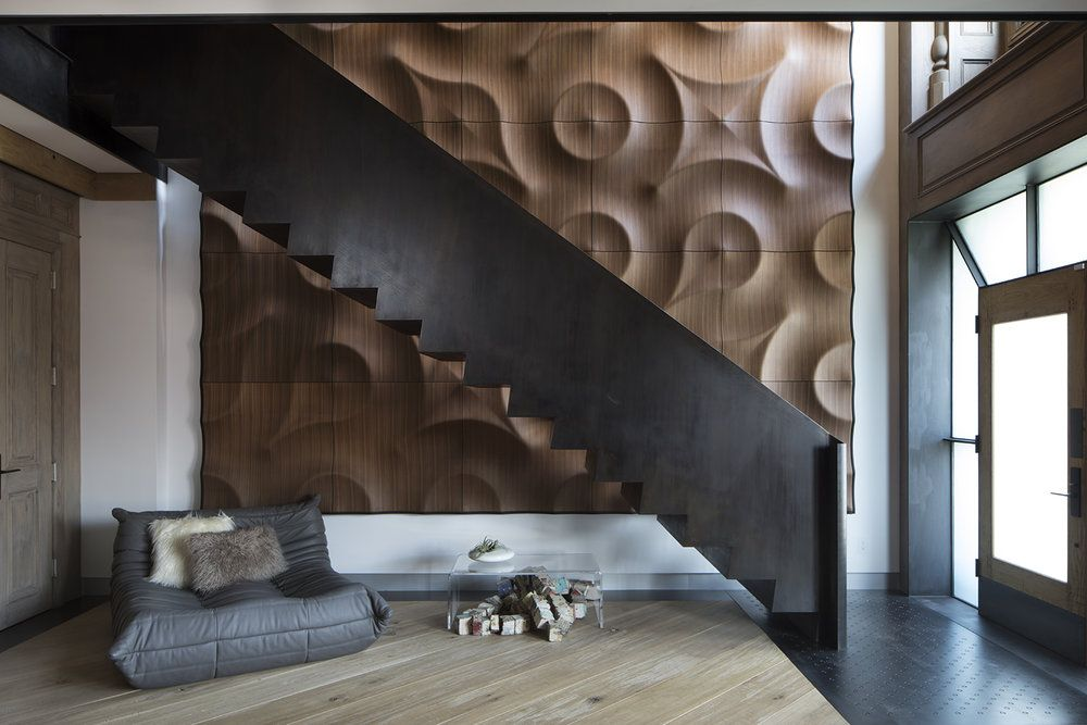 Mokointerior 3d Wall Panels With Togo Sofa By Ligne Roset Home