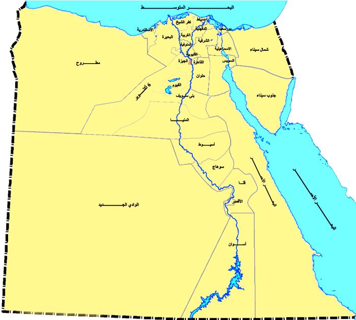 الصفحة الرئيسية خريطة محافظات مصر Egypt Map Egyptian History Egyptian