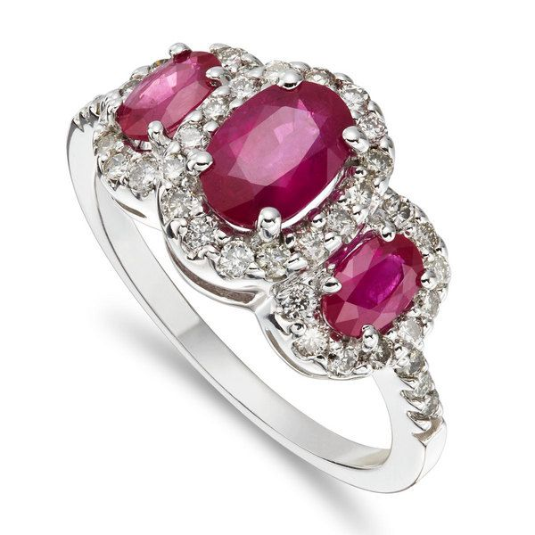 Ruby and Diamond Ritoni Ring