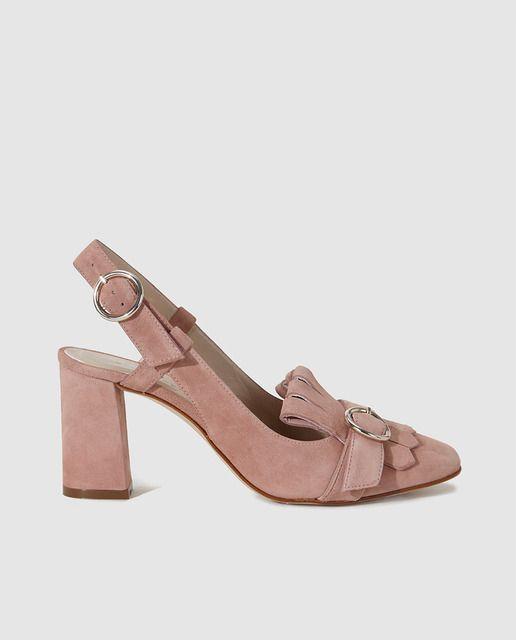 ecda83f26bfd7 Zapatos de salón de mujer Gloria Ortiz destalonados en piel ...
