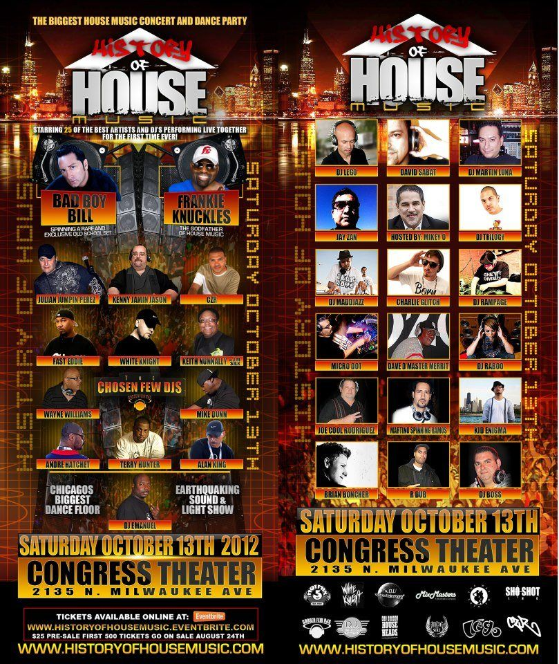 History of house music at congress theater old school