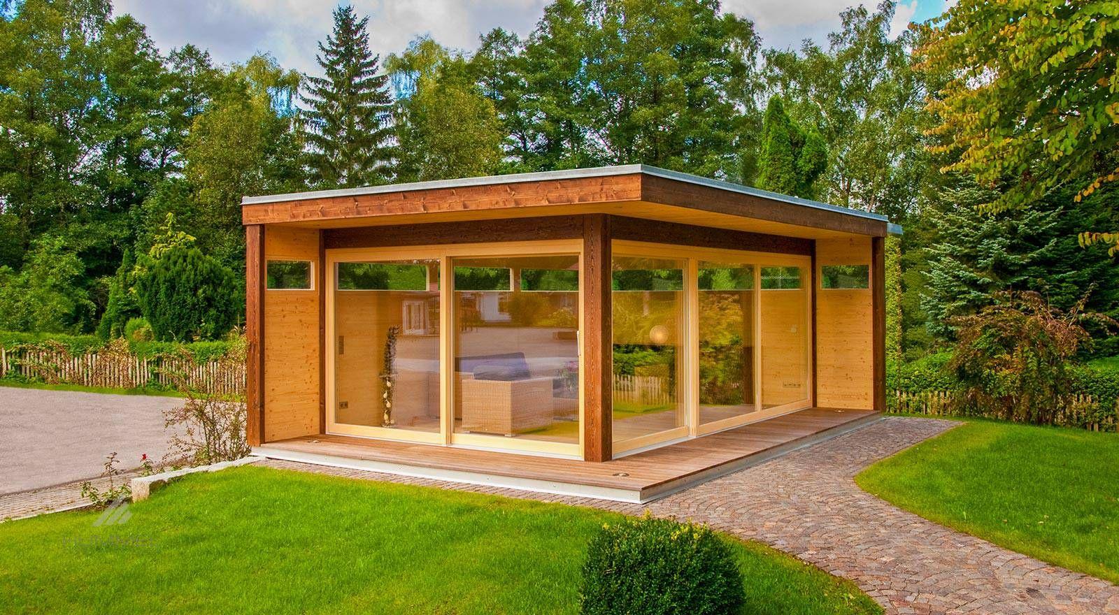 """Modernes Gartenhaus """"my Lounge xl"""" HUMMEL Blockhaus"""