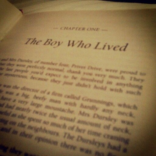 Harry Potter and the Philosopher's Stone Chapter 1 ~ the very ...