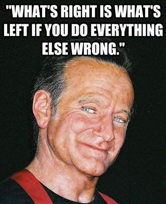 What S Right Is What S Left Robin Williams Quotes Robin Williams How To Memorize Things