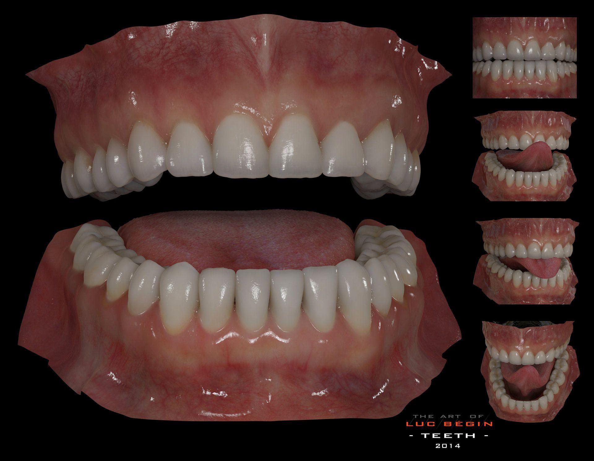 ArtStation - Generic Teeths., Luc Bégin | PBR texture ref ...