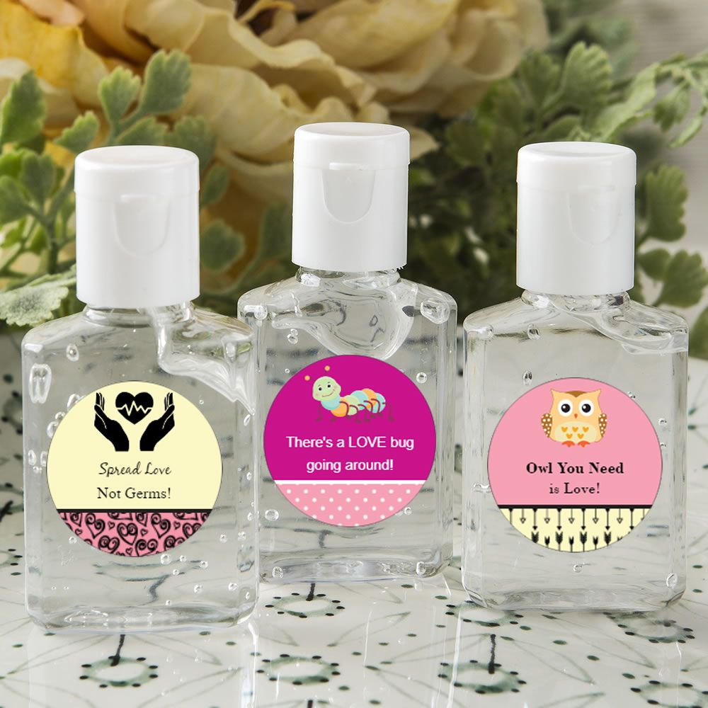 Personalized Expressions Hand Sanitizer Favors Happy Valentines